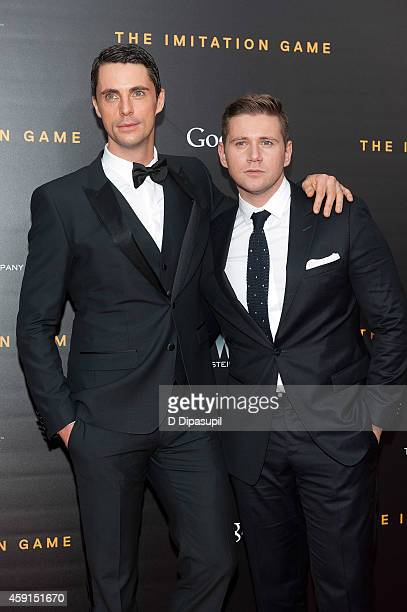 Matthew Goode and Allen Leech attend 'The Imitation Game' New York Premiere at the Ziegfeld Theater on November 17 2014 in New York City