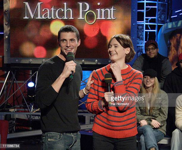 Matthew Goode and Emily Mortimer during Dermot Mulroney Matthew Goode and Emily Mortimer Visit Fuse's 'Daily Download' December 13 2005 at Fuse...