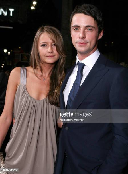 Matthew Goode and guest during The Lookout Los Angeles Premiere Red Carpet at Egyptian Theater in Los Angeles California United States