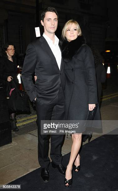 Matthew Goode and partner Sophie Dymoke arriving for the premiere of A Single Man at the Curzon Mayfair, London.