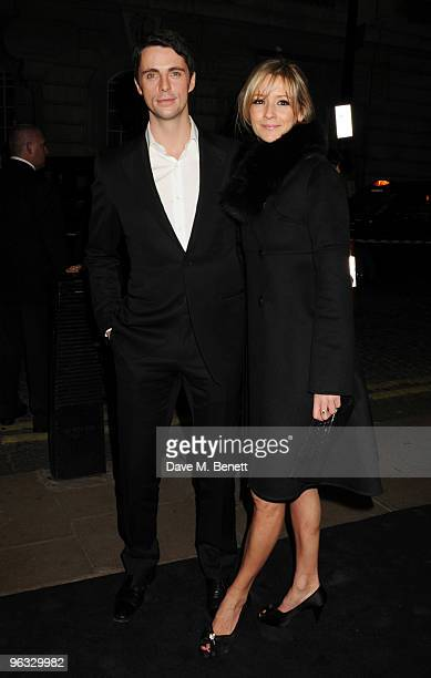 Matthew Goode and Sophie Dymoke arrive at the UK film premiere of 'A Single Man' at the Curzon Cinema Mayfair on February 1 2010 in London England