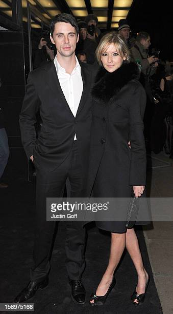 Matthew Goode And Sophie Dymoke Arriving At The Uk Premiere Of A Single Man, Curzon Cinema, Mayfair, London.