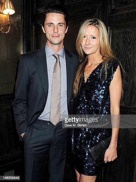 Matthew Goode and Sophie Dymoke attend as Tommy Hilfiger hosts a cocktail party to celebrate the launch of London Collections: Men at The Scotch of...