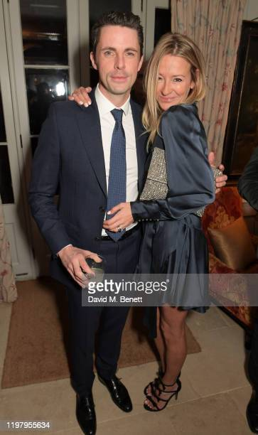 Matthew Goode and Sophie Dymoke attend the Charles Finch & CHANEL Pre-BAFTA Party at 5 Hertford Street on February 1, 2020 in London, England.