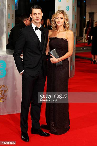 Matthew Goode and Sophie Dymoke attend the EE British Academy Film Awards at The Royal Opera House on February 8 2015 in London England