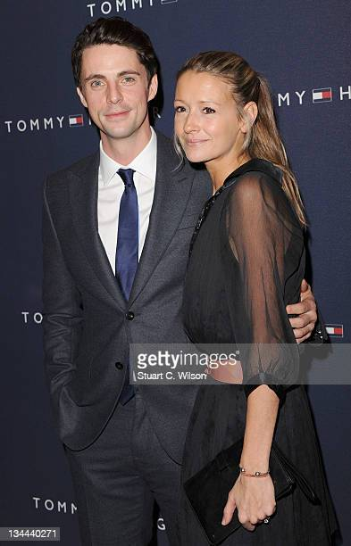 Matthew Goode and Sophie Dymoke attend the launch of the Tommy Hilfiger Flagship Store Launch on December 1, 2011 in London, England.