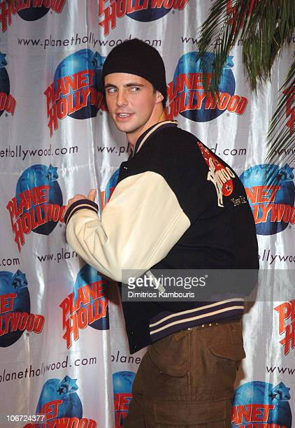 Matthew Goode during Matthew Goode of Chasing Liberty Stops By Planet Hollywood for Memorabillia Donation at Planet Hollywood Time Square in New York...