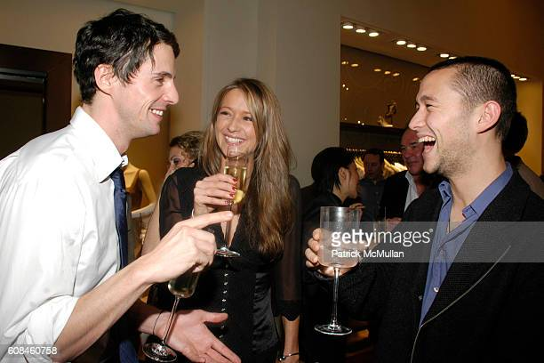 Matthew Goode Sophie Dymoke and Joseph GordonLevitt attend ELIE TAHARI Hosts the After Party for a Screening of THE LOOKOUT at Elie Tahari SoHo on...