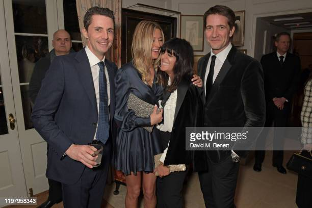 Matthew Goode Sophie Dymoke Claudia Winkleman and Kris Thykier attend the Charles Finch CHANEL PreBAFTA Party at 5 Hertford Street on February 1 2020...