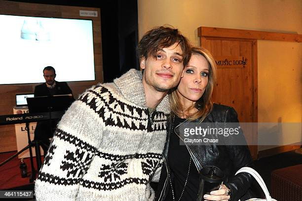 Matthew Gray Gubler and Cheryl Hines attend The 10th Anniversary LG Music Lodge At Sundance With Elio Motors And Tervis on January 20 2014 in Park...