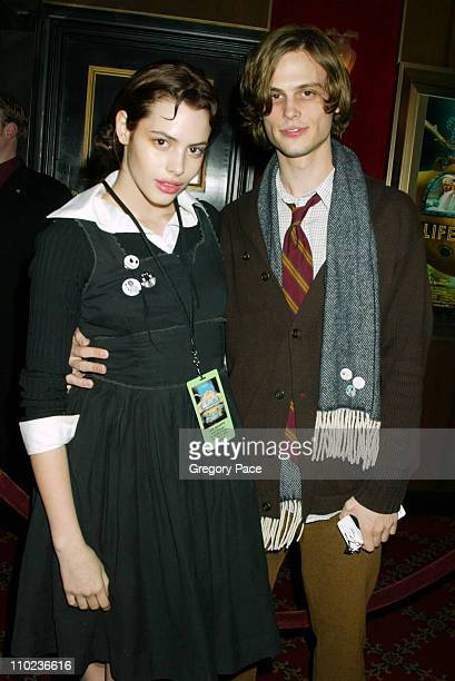 Matthew Gray Gubler and guest during The Life Aquatic with Steve Zissou New York City Premiere Inside Arrivals at Ziegfield Theater in New York City...