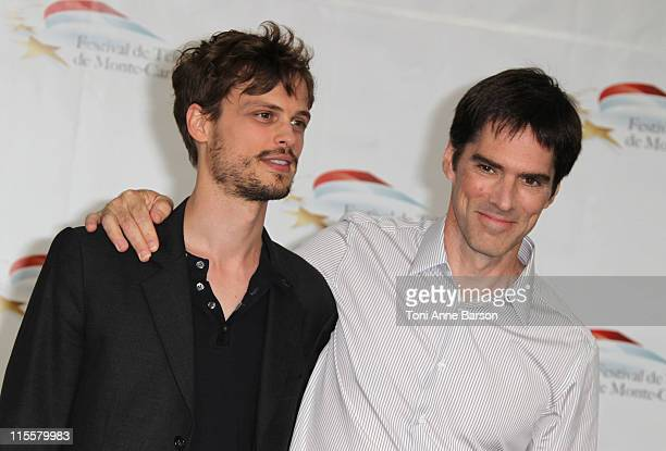 Matthew Gray Gubler and Thomas Gibson attend Photocall for 'Criminal Minds' during the 51st Monte Carlo TV Festival on June 8 2011 in Monaco Monaco