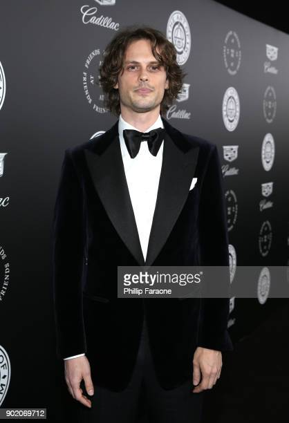 Matthew Gray Gubler attends The Art Of Elysium's 11th Annual Celebration with John Legend at Barker Hangar on January 6 2018 in Santa Monica...