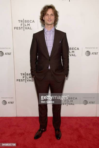 Matthew Gray Gubler attends the 'Zoe' premiere during the 2018 Tribeca Film Festival at BMCC Tribeca PAC on April 21 2018 in New York City