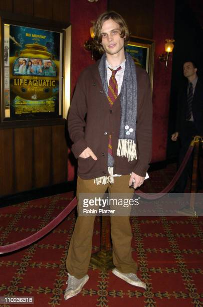 Matthew Gray Gubler during The Life Aquatic with Steve Zissou New York City Premiere Inside Arrivals at Ziegfield Theater in New York City New York...