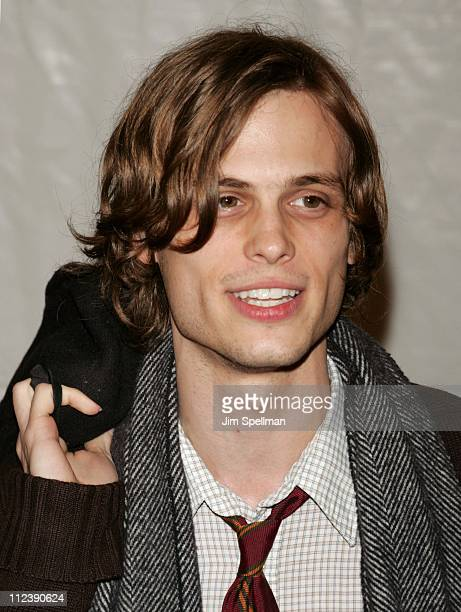 Matthew Gray Gubler during The Life Aquatic with Steve Zissou New York City Premiere Outside Arrivals at Ziegfeld Theater in New York City New York...
