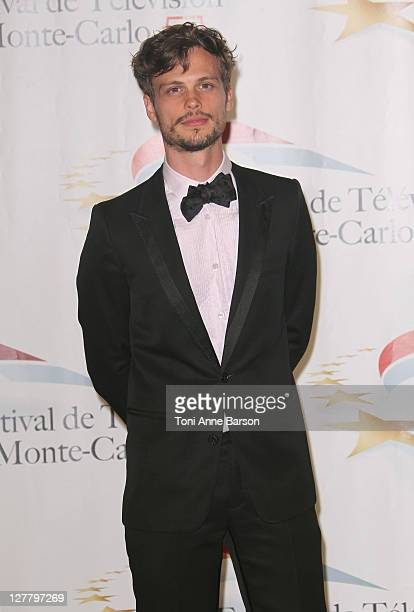 Matthew Gray Gubler poses backstage during The Golden Nymph Awards at the Grimaldi Forum on June 10 2011 in Monaco Monaco