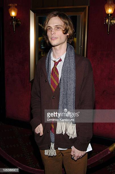 "Matthew Gubler during ""The Life Aquatic with Steve Zissou"" New York Premiere - Inside Arrivals at Ziegfeld Theater in New York City, New York, United..."