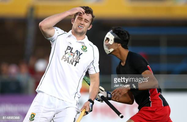 Matthew GuiseBrown of South Africa looks on dejected during day 4 of the FIH Hockey World League Men's Semi Finals Pool B match between Egypt and...
