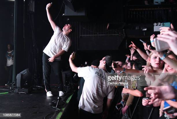 Matthew Halper and Eli Sones of Two Friends performs during the With My Homies Tour at Irving Plaza on January 19, 2019 in New York City.