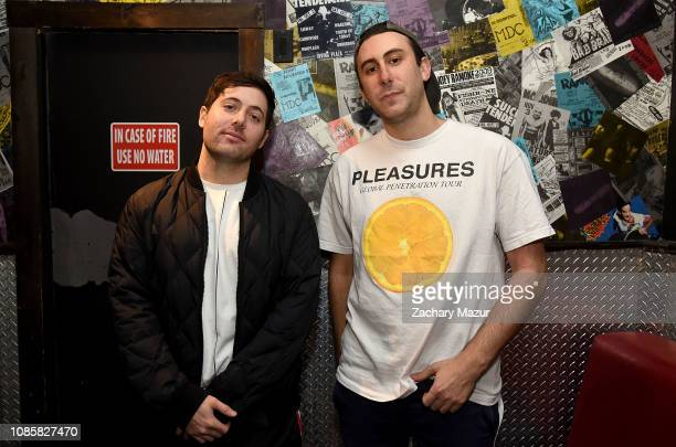 Matthew Halper and Eli Sones of Two Friends pose backstage during the With My Homies Tour at Irving Plaza on January 19, 2019 in New York City.