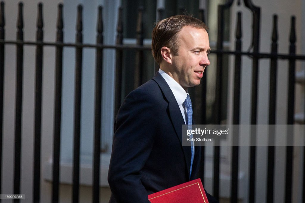 Matthew Hancock, Minister for the Cabinet Office and Paymaster General, arrives at Downing Street on June 30, 2015 in London, England. Prime Minister David Cameron will chair a meeting of Government cabinet members this morning.