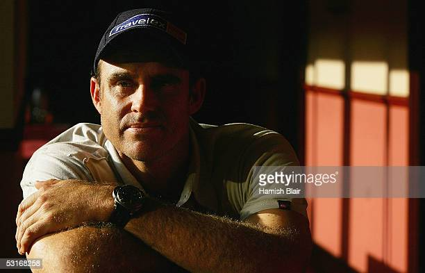 Matthew Hayden of Australia looks poses in the Ashford International Hotel on June 29 2005 in Ashford United Kingdom