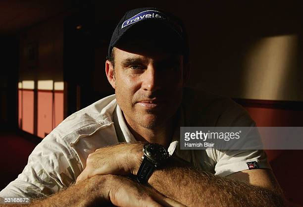 Matthew Hayden of Australia poses in the Ashford International Hotel on June 29 2005 in Ashford United Kingdom
