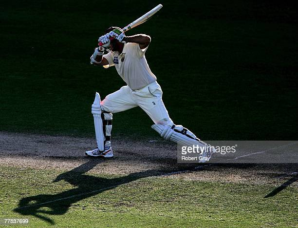 Matthew Hayden of the Bulls leaves a delivery during day three of the Pura Cup match between the Blues and the Bulls at the Sydney Cricket Ground...