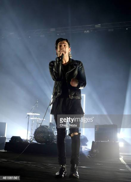 Matthew Healy of The 1975 performs at Brixton Academy on January 9 2014 in London England