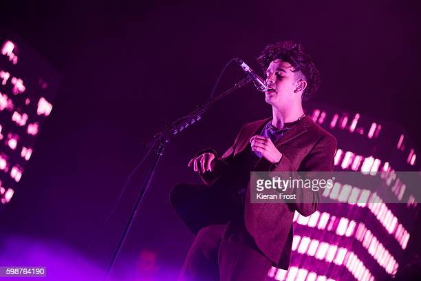 Matthew Healy of The 1975 performs at Electric Picnic Festival at Stradbally Hall Estate on September 2, 2016 in Dublin, Ireland.