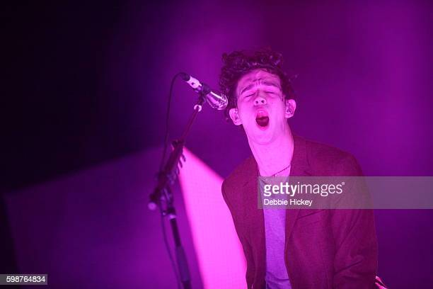 Matthew Healy of The 1975 performs at Electric Picnic Festival at Stradbally Hall Estate on September 2 2016 in Dublin Ireland