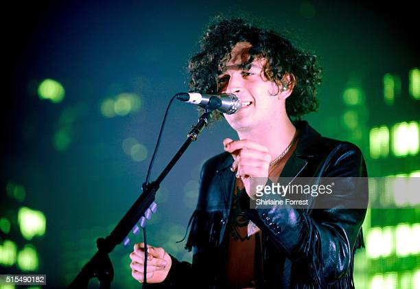 Matthew Healy of The 1975 performs at O2 Apollo Manchester on March 13 2016 in Manchester England