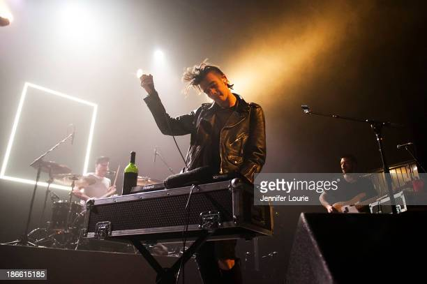 Matthew Healy of The 1975 performs at The Fonda Theatre on November 1 2013 in Los Angeles California