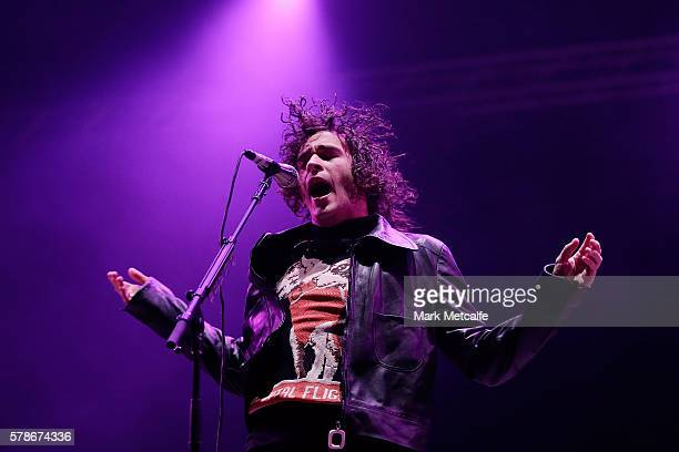 Matthew Healy of The 1975 performs during Splendour in the Grass 2016 on July 22 2016 in Byron Bay Australia
