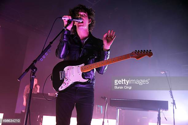 Matthew Healy of The 1975 performs live on stage at Eventim Apollo on November 24 2015 in London England