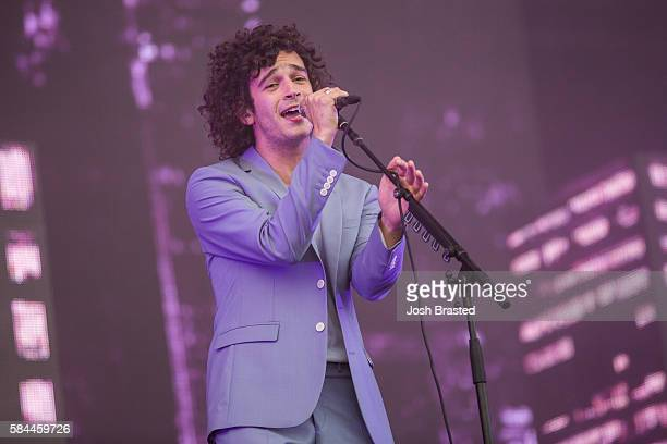 Matthew Healy of The 1975 performs on day one of Lollapalooza 2016 at Grant Park on July 28 2016 in Chicago Illinois