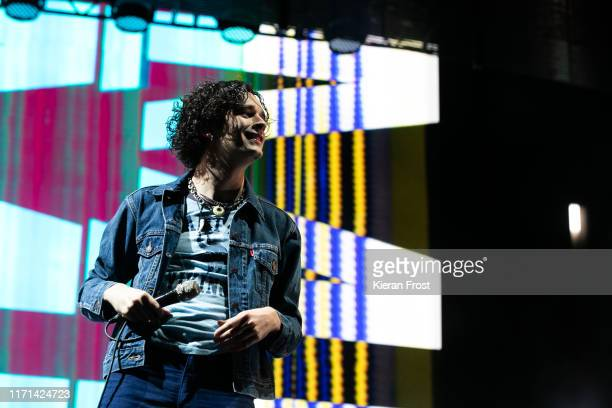 Matthew Healy of The 1975 performs on stage during Electric Picnic Music Festival 2019 at on August 31, 2019 in Stradbally, Ireland.