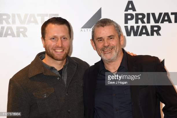 Matthew Heineman and Paul Conroy attend a QA screening of A Private War at Odeon Leicester Square on February 04 2019 in London England