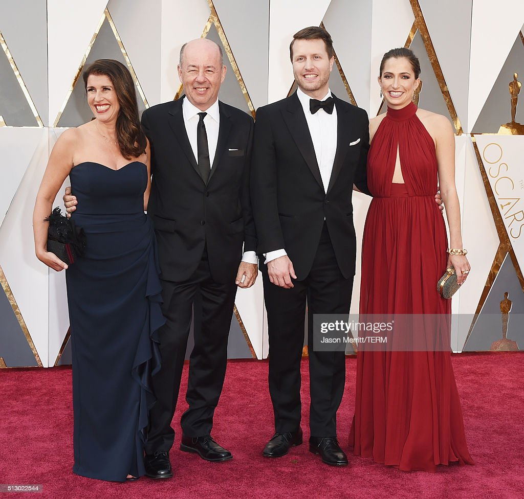 Matthew Heineman (2nd-R) and Tom Yellin (2nd-L) attend the 88th Annual Academy Awards at Hollywood & Highland Center on February 28, 2016 in Hollywood, California.