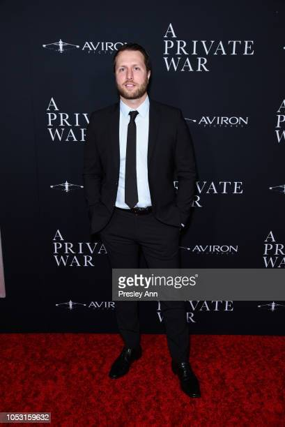 Matthew Heineman attends Aviron Pictures' Los Angeles Premiere Of A Private War at Samuel Goldwyn Theater on October 24 2018 in Beverly Hills...