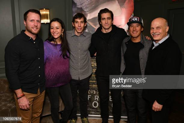Matthew Heineman Free Solo Director and Producer E Chai Vasarhelyi featured Free Soloist Alex Honnold actor Jake Gyllenhaal Free Solo Director...