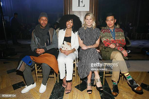 Matthew Henson DJ Kitty Cash model Alexandra Richards and fashion blogger Bryanboy attend the Sophie Theallet fashion show during Fall 2016 New York...