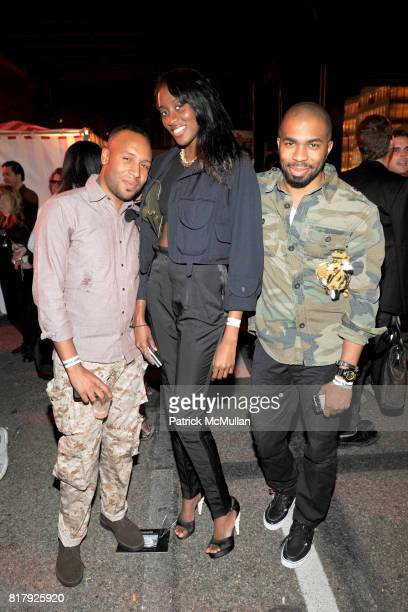 Matthew Henson Peju Famojure and Shannon Stokes attend ALEXANDER WANG After Party at Edison Parking Lot on September 11 2010 in New York City