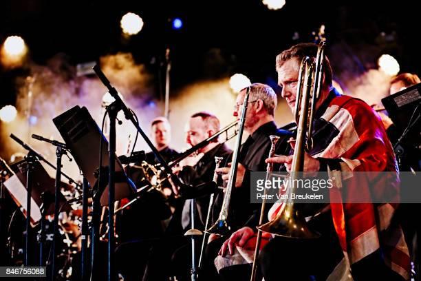 Matthew Herbert's Brexit Big Band Performs at Jazz Middelheim Festival on August 04 2017 in Antwerp Belgium