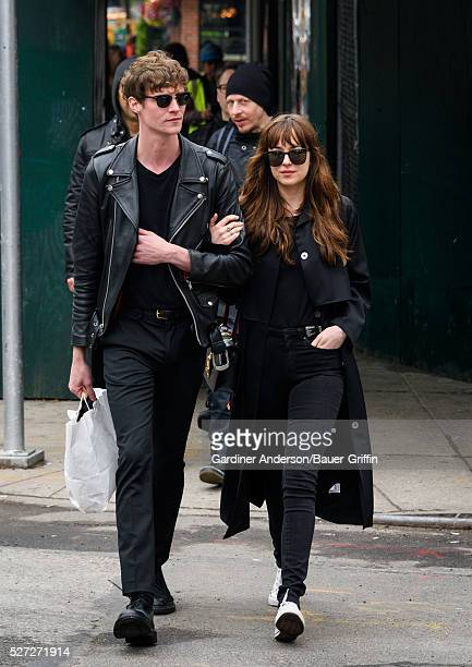 Matthew Hitt and Dakota Johnson are seen on May 02 2016 in New York City