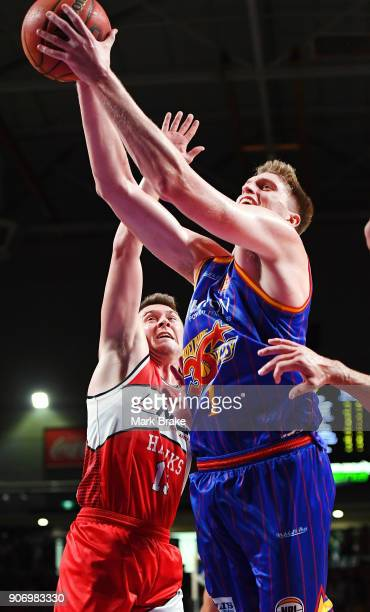 Matthew Hodgson of the Adelaide 36ers heds for a basket during the round 15 NBL match between the Adelaide 36ers and the Illawarra Hawks at Titanium...