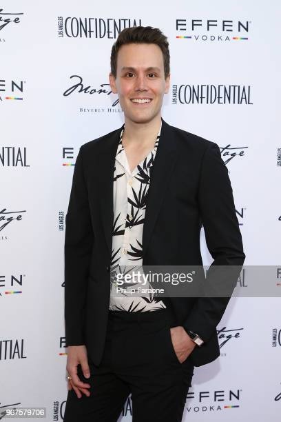 Matthew Hoffman attends the Los Angeles Confidential Celebration for Portraits of Pride with GLAAD and Laverne Cox on June 4 2018 in Beverly Hills...