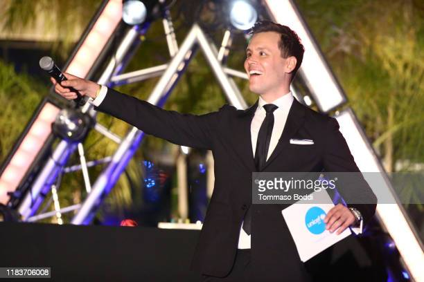 Matthew Hoffman speaks onstage during the 7th Annual UNICEF Masquerade Ball 2019 at Kimpton La Peer Hotel on October 26 2019 in West Hollywood...