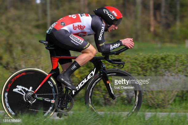 Matthew Holmes of United Kingdom and Team Lotto Soudal during the 74th Tour De Romandie 2021, Prologue a 4,05km Individual Time Trial stage from Oron...
